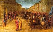 Francesco Granacci Entry of Charles VIII into Florence oil painting
