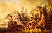 Eugene Isabey Arrival of the Duke of Alba at Rotterdam in 1567 oil painting artist