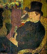 Henri  Toulouse-Lautrec Portrait of Monsieur Delaporte at the Jardin de Paris oil painting