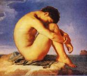 Hippolyte Flandrin Young Man Beside the Sea   1 oil
