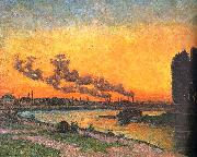 J B Armand  Guillaumin Sunset at Ivry oil painting artist