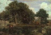 Jean Baptiste Camille  Corot Forest of Fontainebleau Germany oil painting reproduction