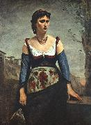 Jean Baptiste Camille  Corot Agostina2 Germany oil painting reproduction