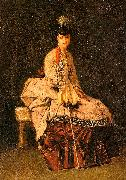 Jules-Adolphe Goupil Lady Seated oil