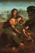 Leonardo  Da Vinci Virgin and Child with St Anne Germany oil painting reproduction