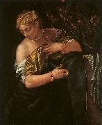 Paolo  Veronese Lucretia Stabbing Herself oil painting artist