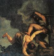 Titian Cain and Abel oil painting reproduction