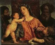 Titian Madonna of the Cherries Germany oil painting reproduction