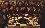 ANTHONISZ  Cornelis Banquet of Members of Amsterda  s Crossbow Civic Guard oil painting artist