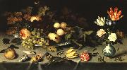 AST, Balthasar van der Flowers and Fruit  fg oil painting artist