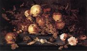 AST, Balthasar van der Still-life with Dish of Fruit  ffg oil