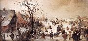 AVERCAMP, Hendrick Winter Scene on a Canal  ggg oil painting picture wholesale