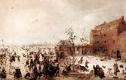 AVERCAMP, Hendrick A Scene on the Ice near a Town fg oil painting picture wholesale