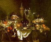 Abraham Hendrickz van Beyeren Banquet Still Life Germany oil painting reproduction