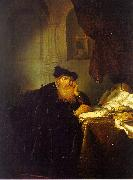 Abraham van der Hecken The Philosopher oil