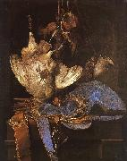 Aelst, Willem van Still Life with Hunting Equipment oil