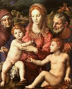 Agnolo Bronzino Holy Family with St.Anne and the Infant St.John oil painting picture wholesale