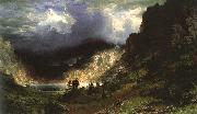 Albert Bierstadt Storm in the Rocky Mountains, Mt Rosalie oil