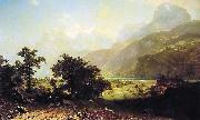 Albert Bierstadt Lake Lucerne, Switzerland oil painting picture wholesale