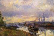 Albert Lebourg Tug Boats at Rouen oil