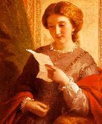 Alfred Chalon Girl Reading a Letter oil painting artist