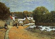 Alfred Sisley Early Snow at Louveciennes oil