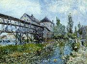 Alfred Sisley Provencher's Mill at Moret oil