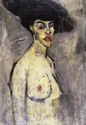 Amedeo Modigliani Nude with a Hat (recto) oil painting picture wholesale