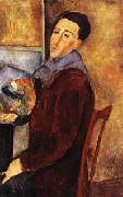 Amedeo Modigliani self portrait oil painting artist