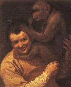 Annibale Carracci A Man with a Monkey oil