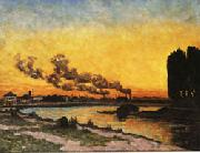 Armand Guillaumin Setting Sun at Ivry oil painting picture wholesale