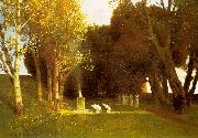 Arnold Bocklin The Sacred Wood oil painting artist