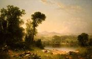 Asher Brown Durand Pastoral Landscape oil