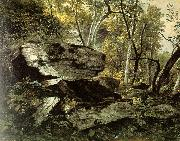 Asher Brown Durand Study from Rocks and Trees oil
