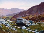 Atkinson Grimshaw Bowder Stone, Borrowdale oil painting picture wholesale