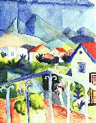 August Macke St.Germain near Tunis oil painting picture wholesale