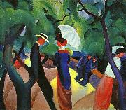 August Macke Promenade oil painting picture wholesale