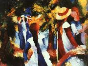 August Macke Girls Under Trees oil painting picture wholesale