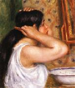 Auguste renoir The Toilette Woman Combing Her Hair oil painting picture wholesale