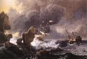 BACKHUYSEN, Ludolf Ships in Distress off a Rocky Coast oil painting artist