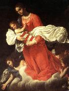 BAGLIONE, Giovanni The Virgin and the Child with Angels oil
