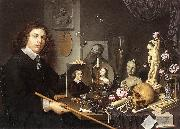 BAILLY, David Self-Portrait with Vanitas Symbols dddw oil painting