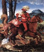 BALDUNG GRIEN, Hans The Knight, the Young Girl, and Death ddww oil painting