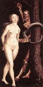 BALDUNG GRIEN, Hans Eve, the Serpent, and Death oil painting