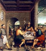 BASSANO, Jacopo Supper at Emmaus sf oil painting artist