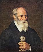 BASSETTI, Marcantonio Portrait of an Old Man with Gloves 22 oil painting