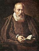 BASSETTI, Marcantonio Portrait of an Old Man with Book g oil painting