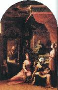 BECCAFUMI, Domenico Birth of the Virgin dfgf oil