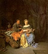 BEGA, Cornelis The Duet  hgg oil