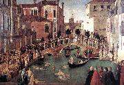 BELLINI, Gentile Miracle of the Cross at the Bridge of S. Lorenzo oil painting picture wholesale